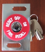 Fire Recall switch FEO-K1, Vertical